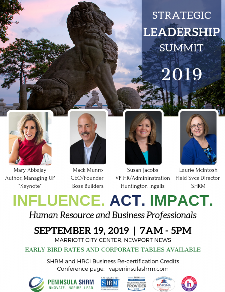 Peninsula Chapter of SHRM - Annual Strategic Conference 2019